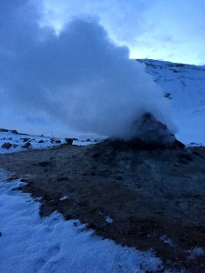 "An Icelandic ""fumarole."" Photo credit to Catharine Slusar."