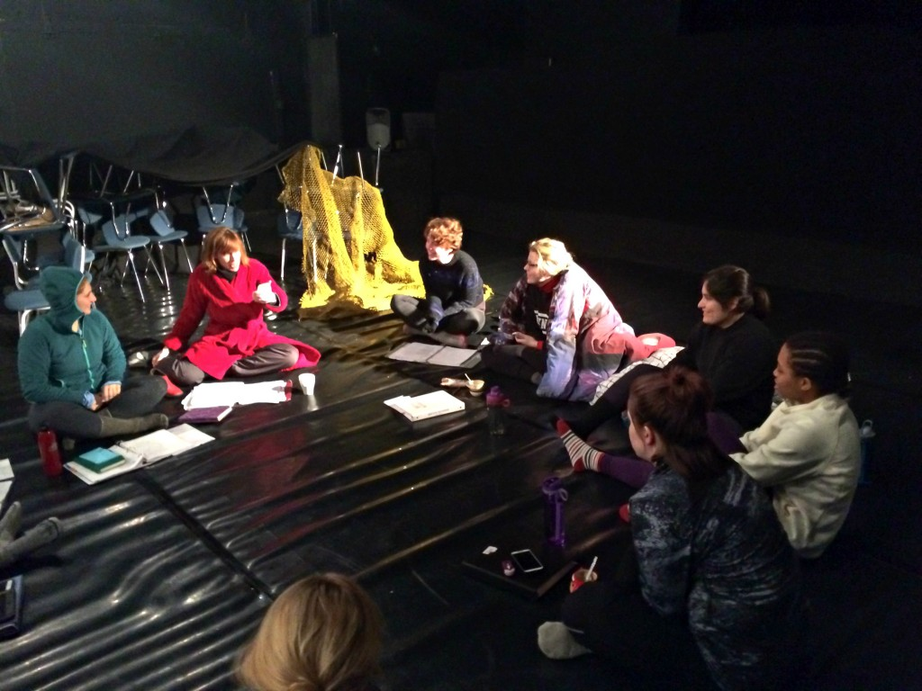 Rehearsing in the black box at The Freezer 1